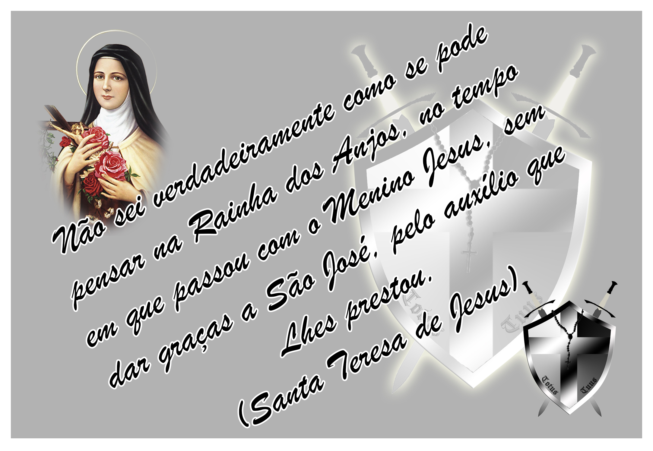 Frese De Santa Teresa Do Menino Jesus Católico On